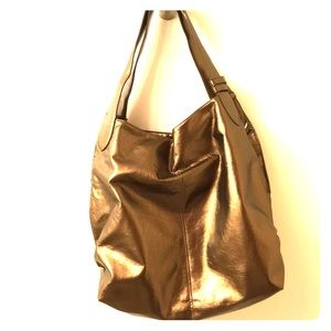 Lancome Large Bronze Metallic Tote